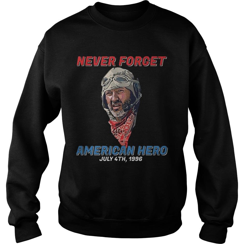 Never Forget American Hero July 4th 1996 Sweater