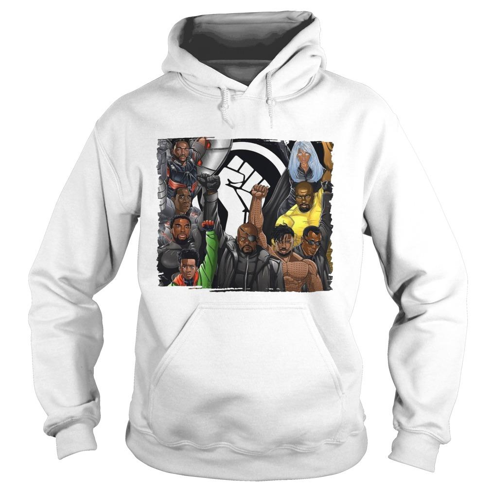 Nick Fury Black Panther Falcon Strong Hand Hoodie