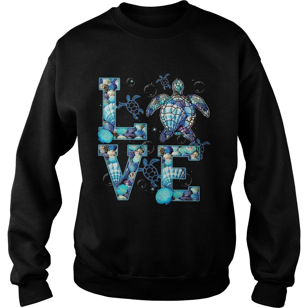 Ocean Turtle Love Sweater