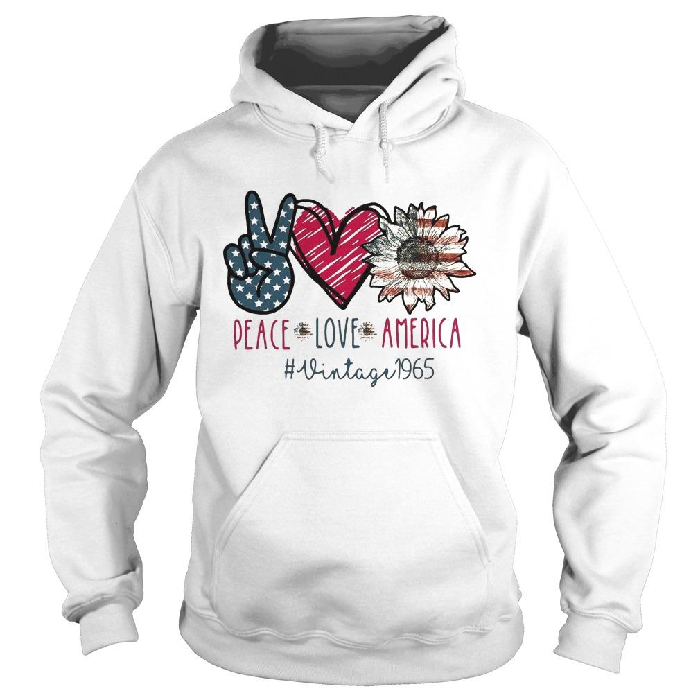 Peace Love America Vintage 1965 Hoodie