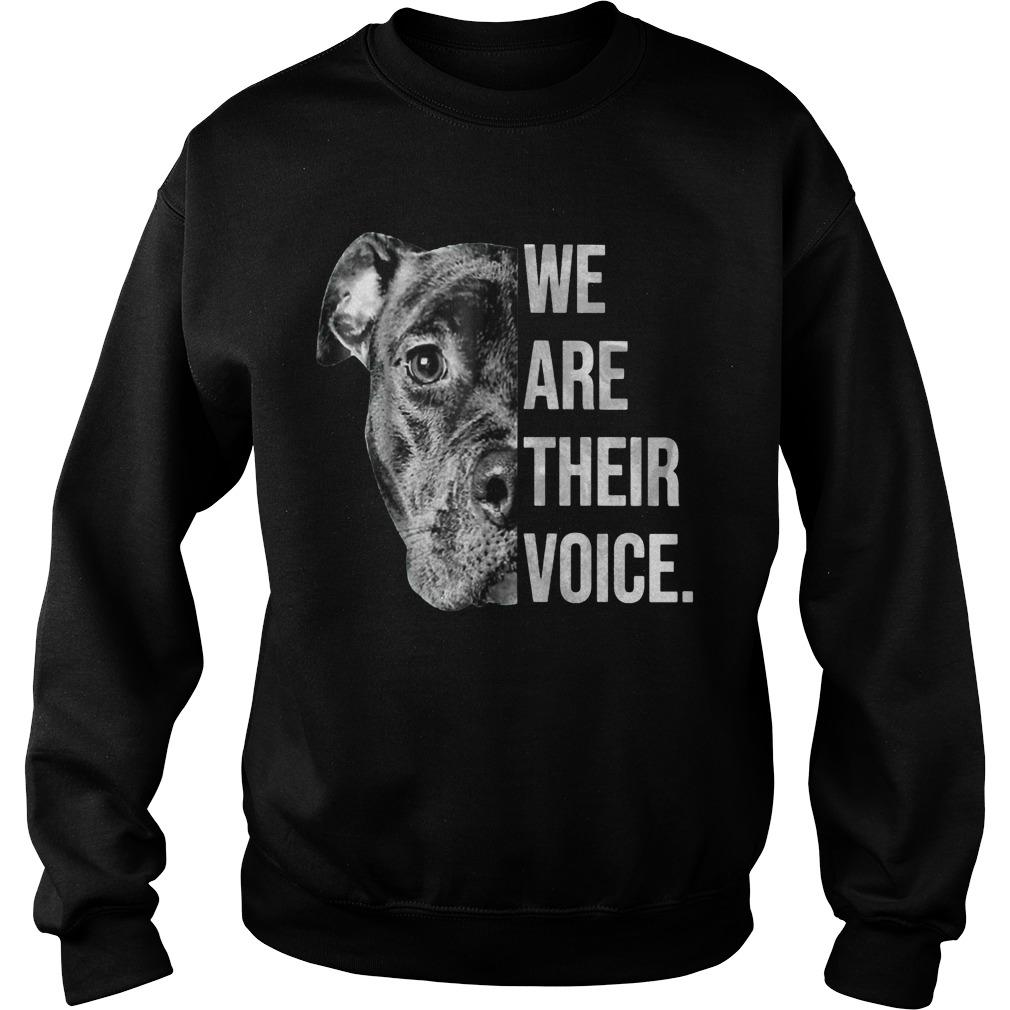 Pitbull We Are Their Voices Sweater