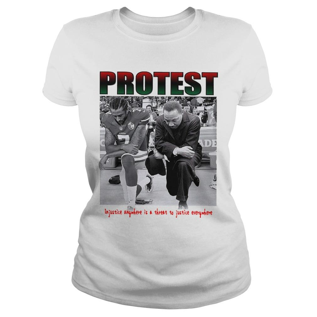 Protest Injustice Anywhere Is A Threat To Justice Everywhere Longsleeve