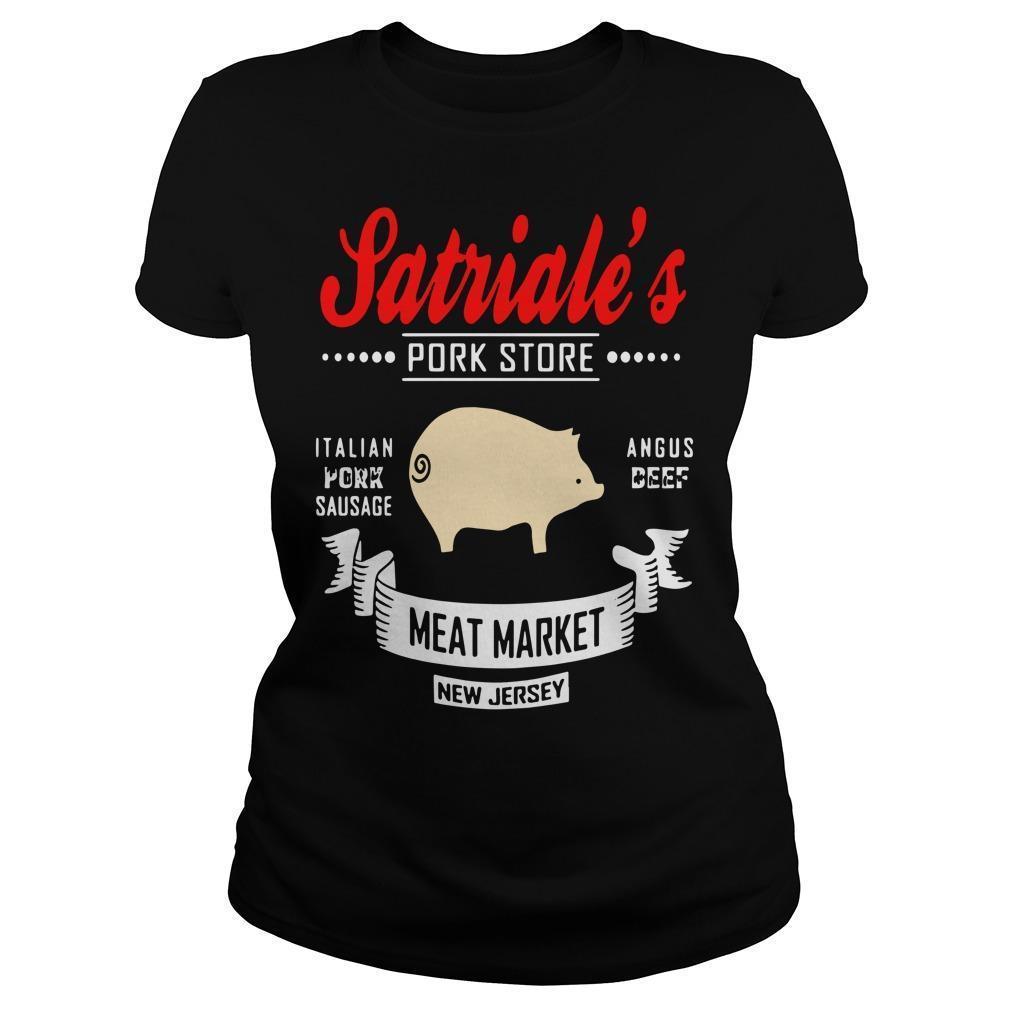 Satriale's Pork Store Italian Pork Sausage Angus Beef Meat Market Longsleeve