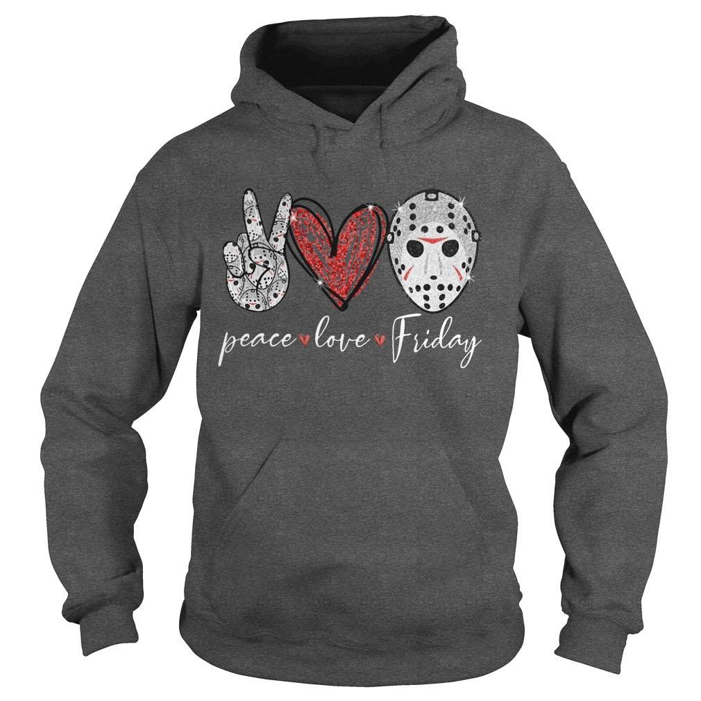 Saw Peace Love Friday Hoodie