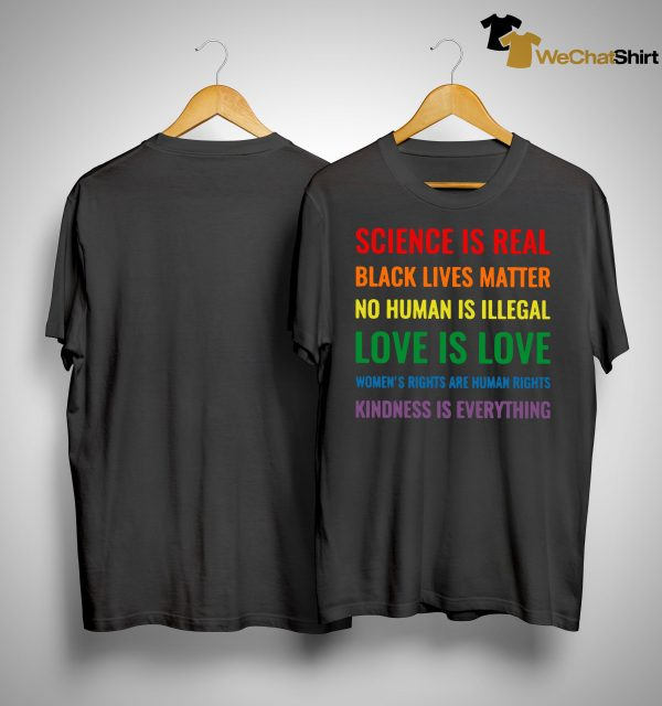 Science Is Real Black Lives Matter Shirt
