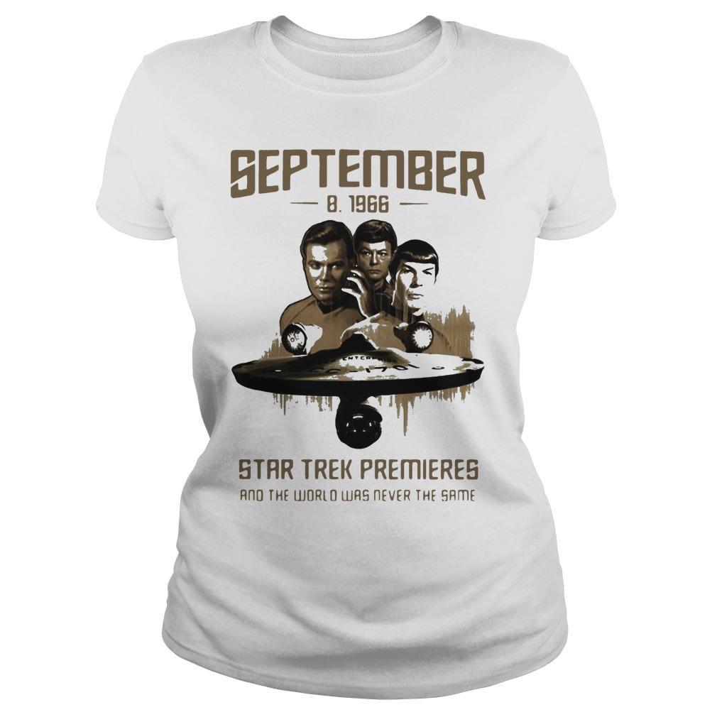 September 8 1966 Star Trek Premieres And The World Was Never The Same Longsleeve