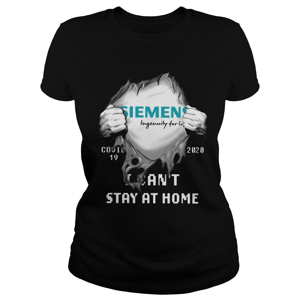 Siemens Ingenuity For Life Covid 19 2020 I Can't Stay At Home Longsleeve