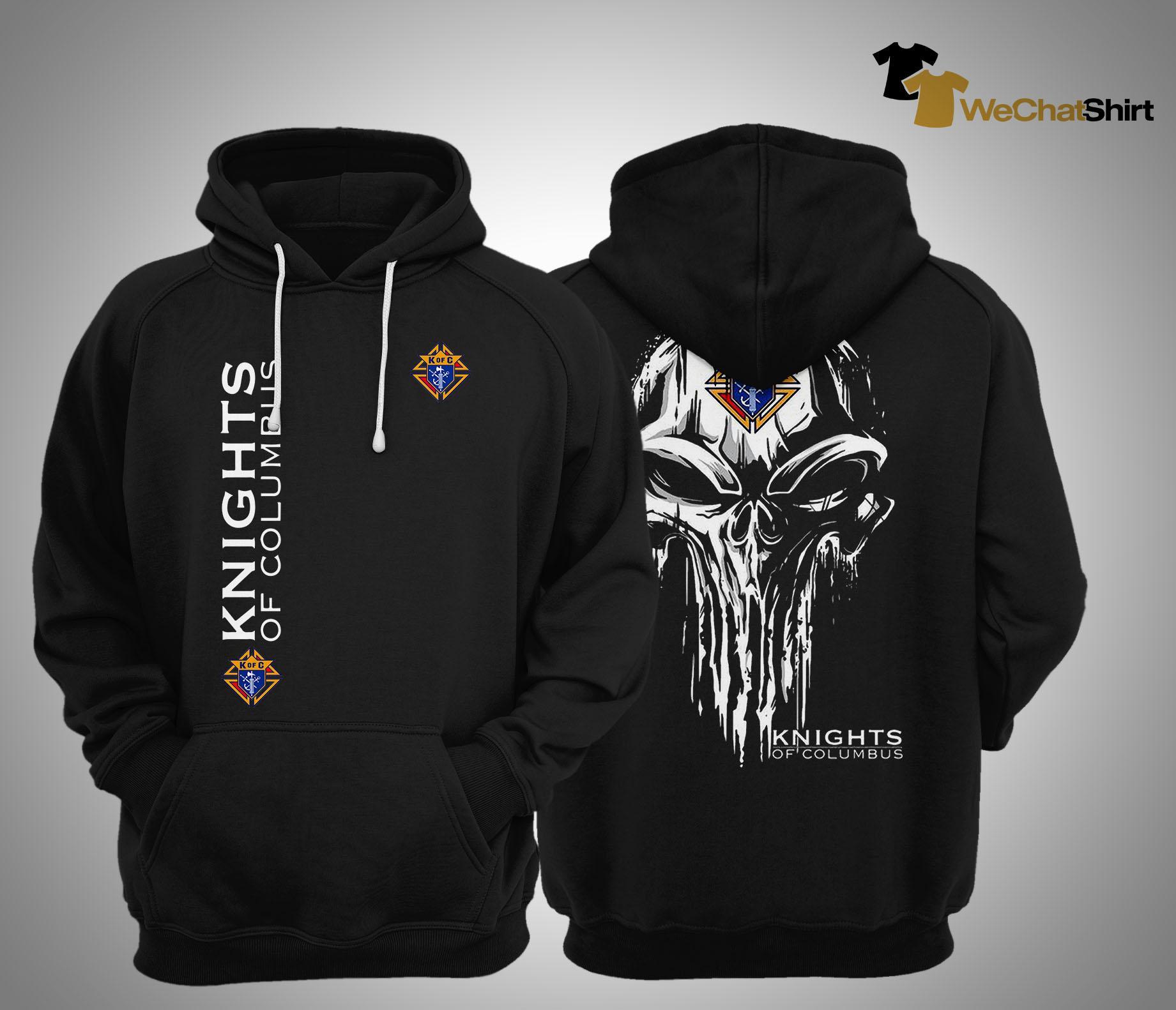 Skull Knights Of Columbus Hoodie