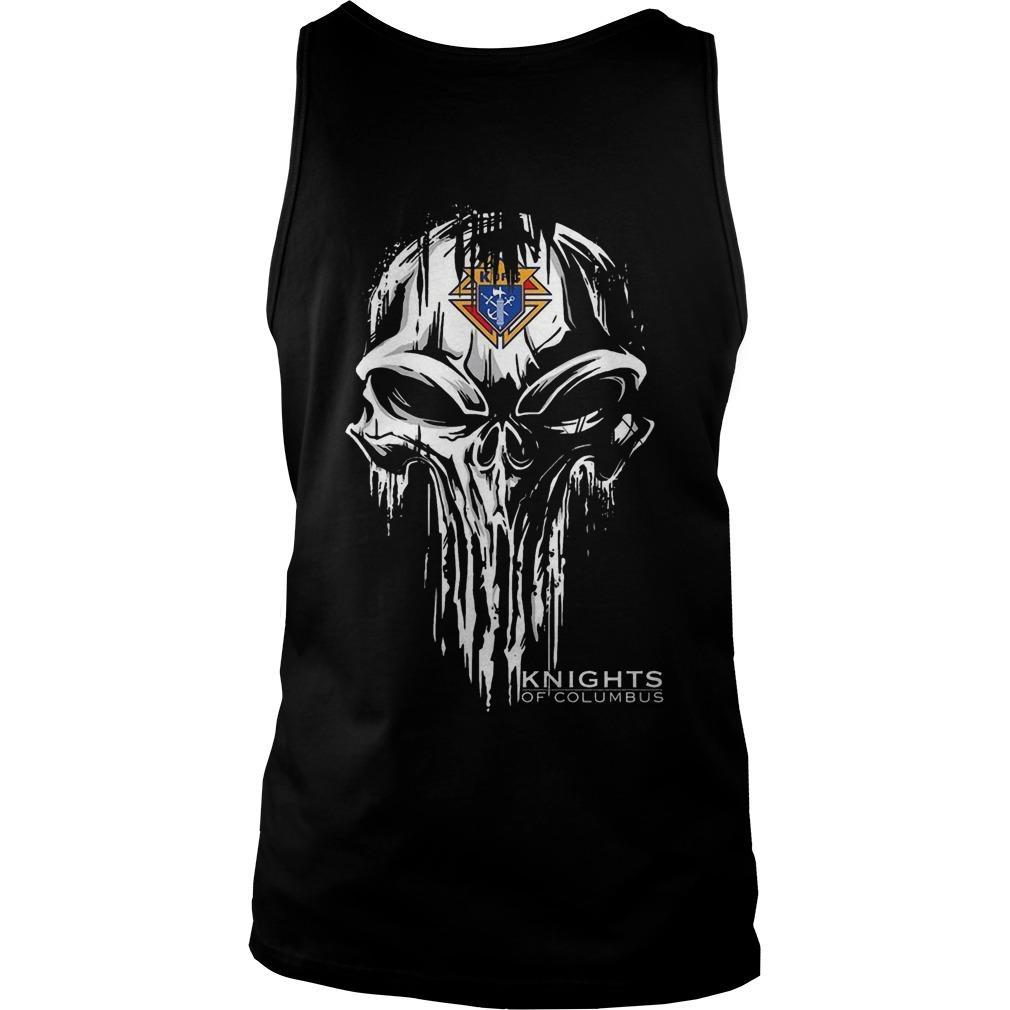 Skull Knights Of Columbus Tank Top