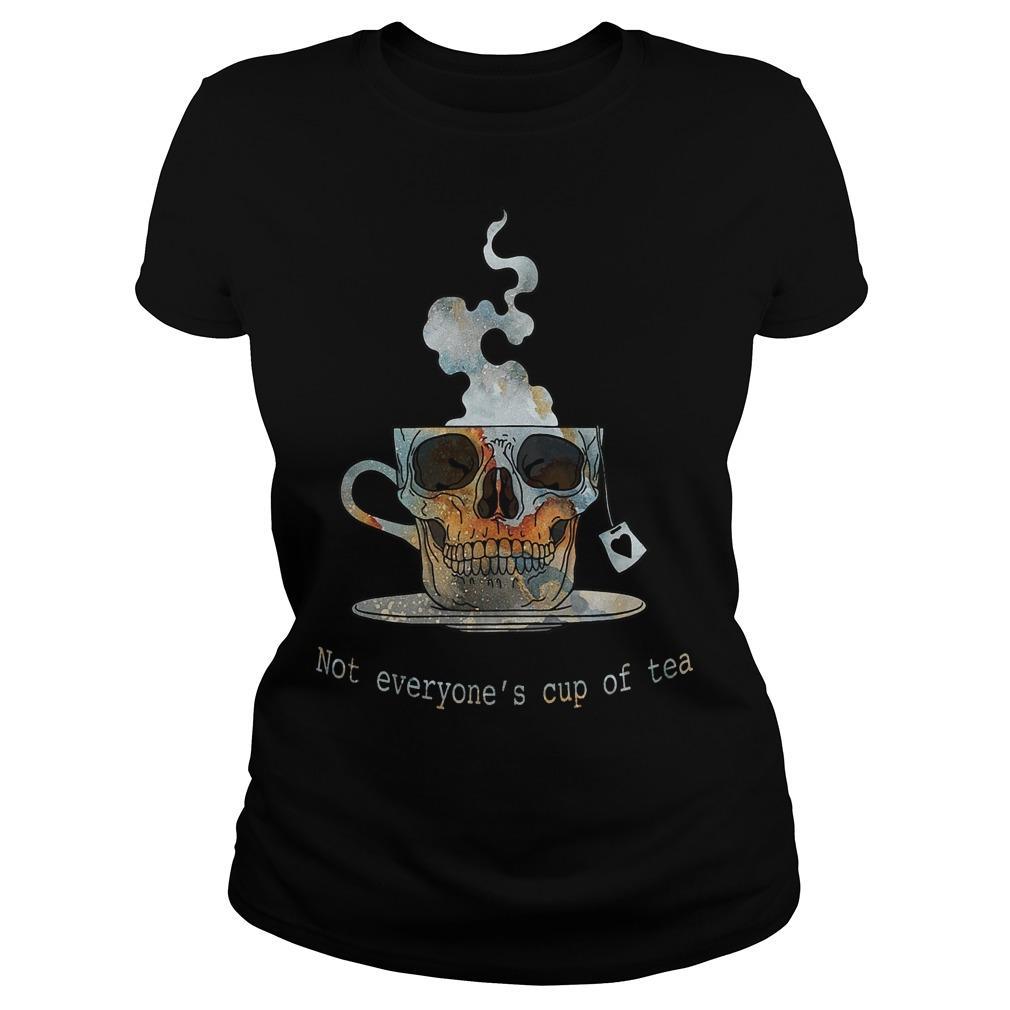 Skull Not Everyone's Cup Of Tea Longsleeve