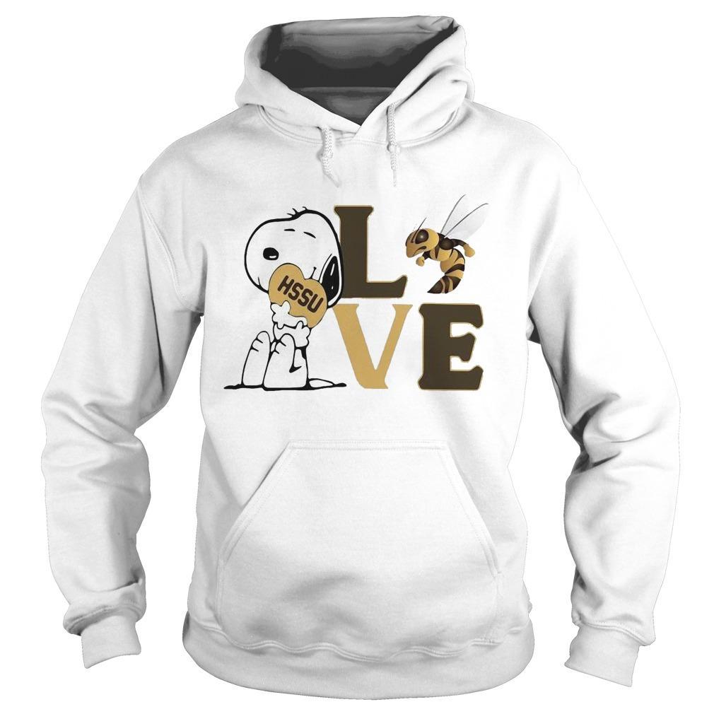 Snoopy Hssu Harris Stowe State University Athletics Heart Love Hoodie