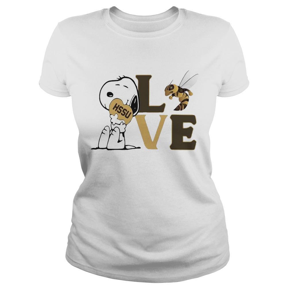 Snoopy Hssu Harris Stowe State University Athletics Heart Love Longsleeve