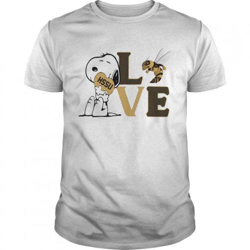 Snoopy Hssu Harris Stowe State University Athletics Heart Love Shirt