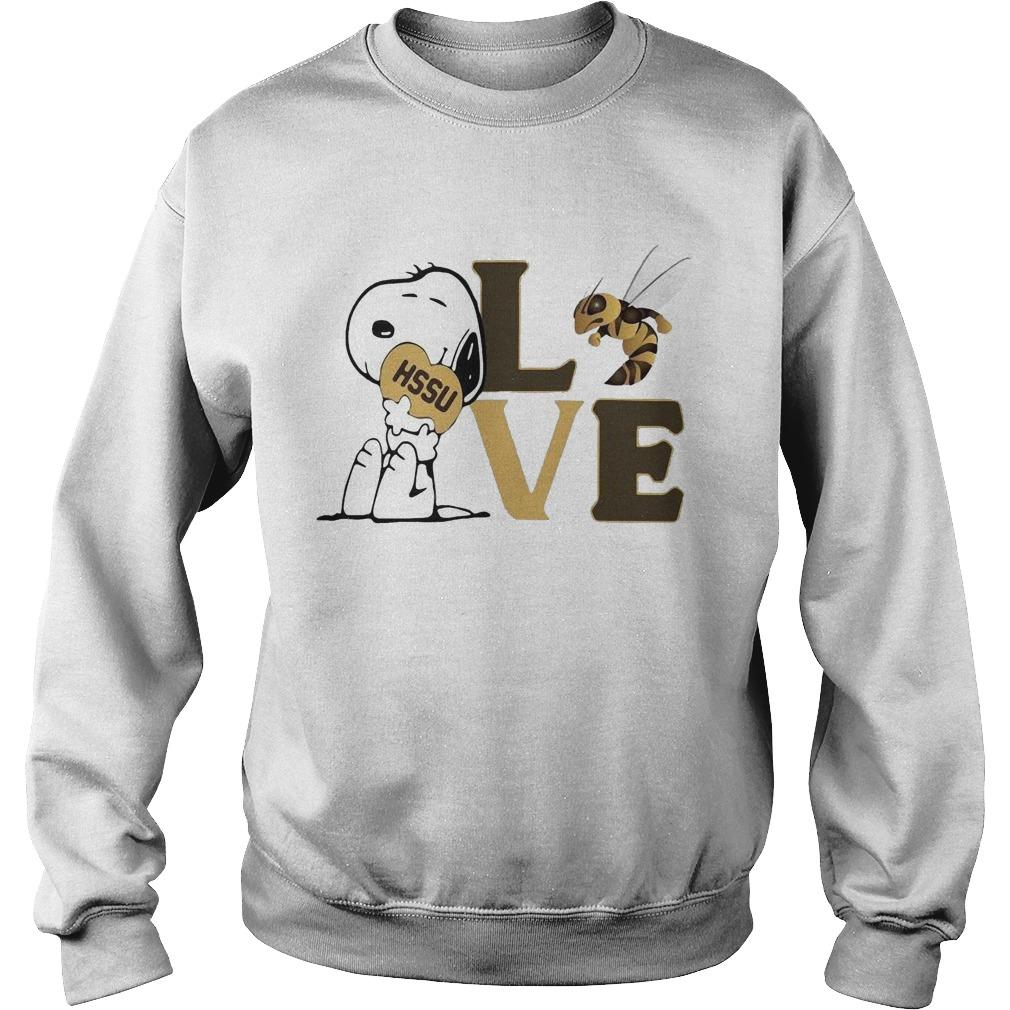 Snoopy Hssu Harris Stowe State University Athletics Heart Love Sweater