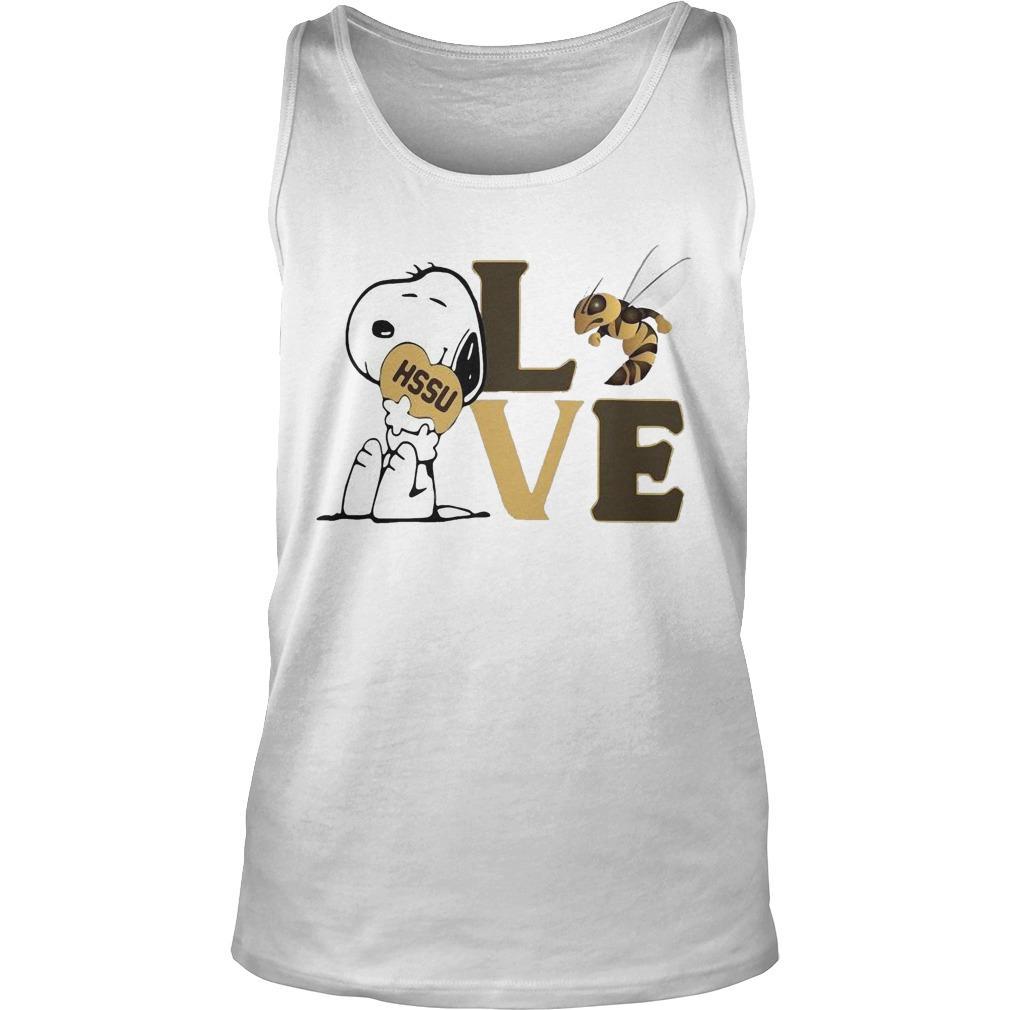 Snoopy Hssu Harris Stowe State University Athletics Heart Love Tank Top