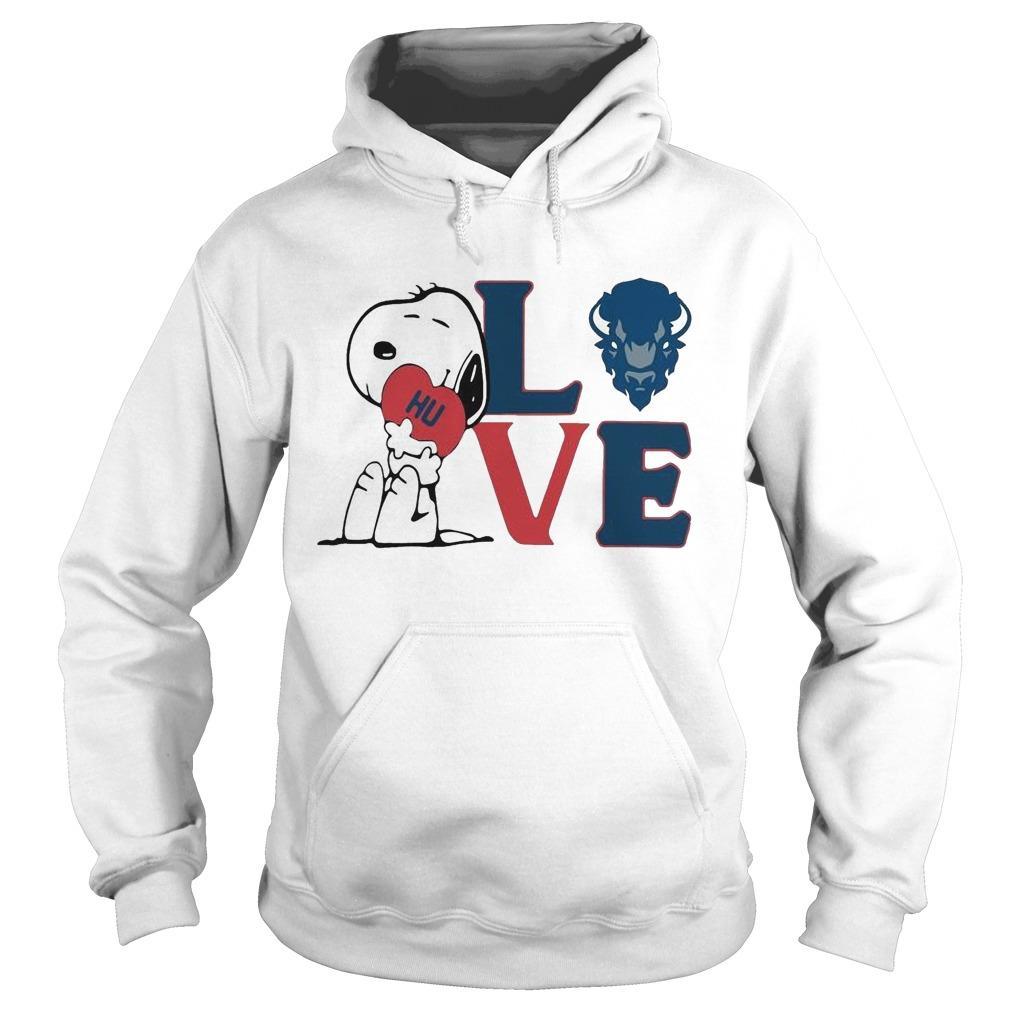 Snoopy Hu Howard University Heart Love Hoodie