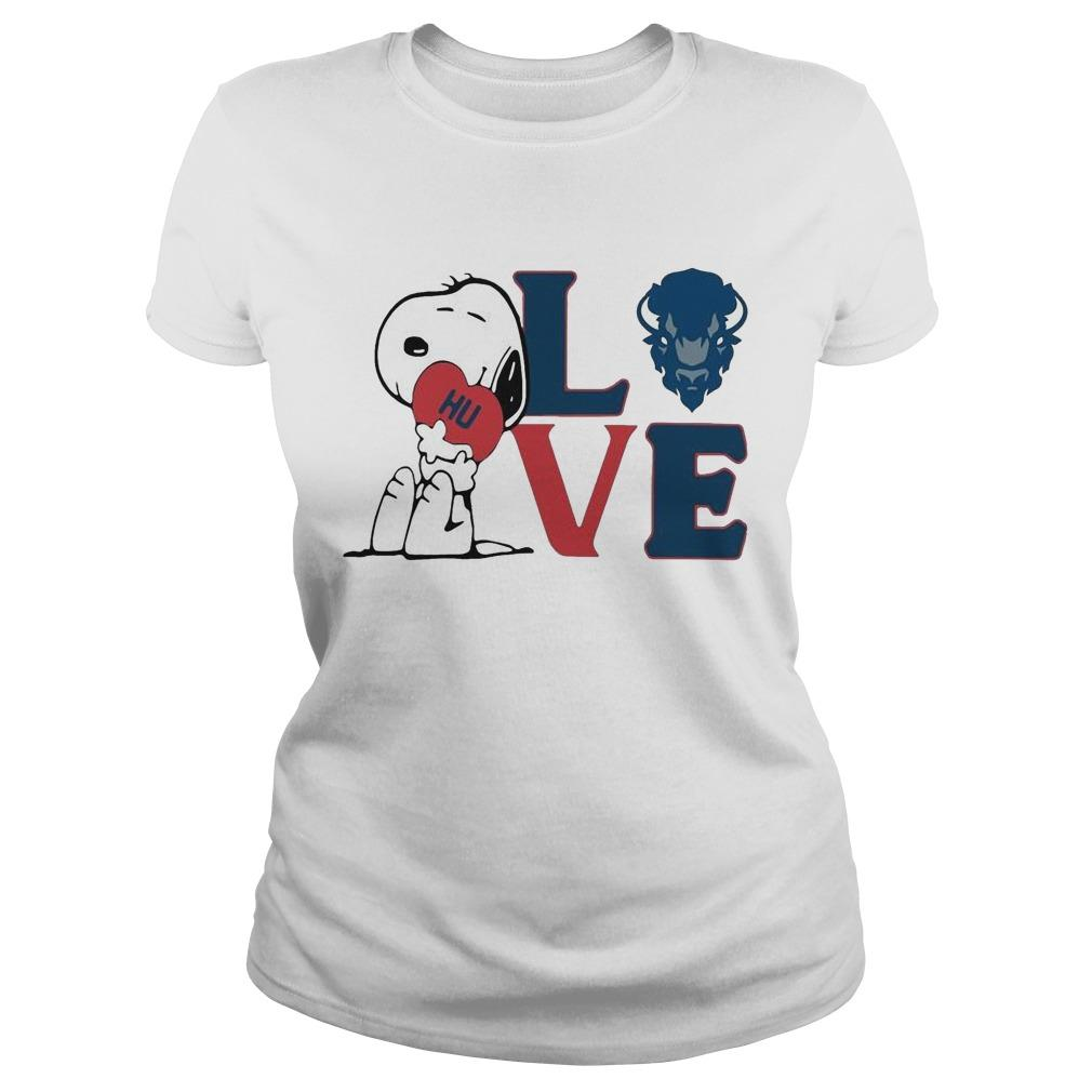 Snoopy Hu Howard University Heart Love Longsleeve