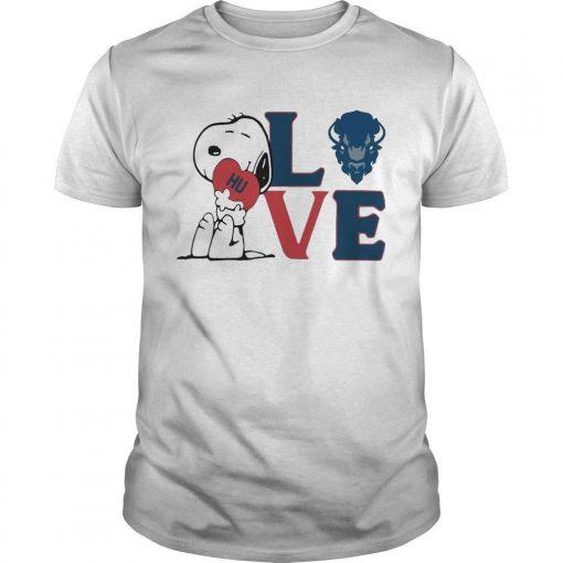 Snoopy Hu Howard University Heart Love Shirt
