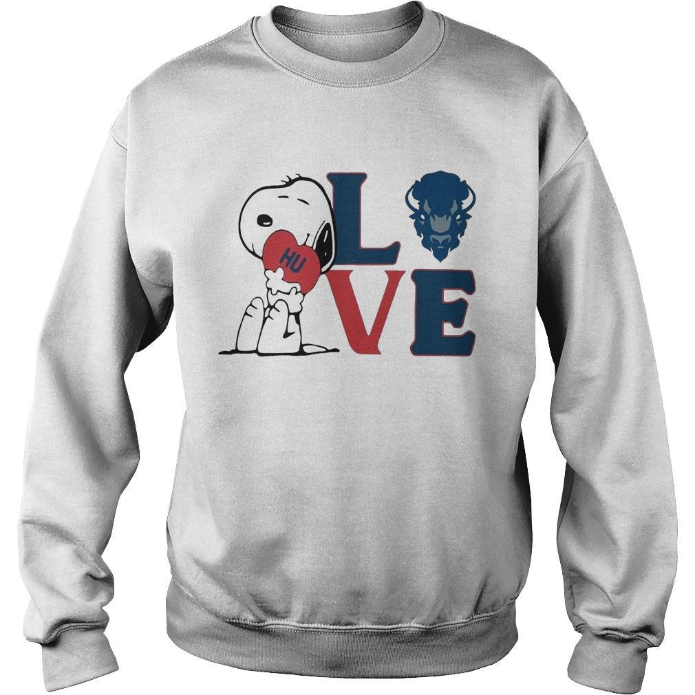 Snoopy Hu Howard University Heart Love Sweater