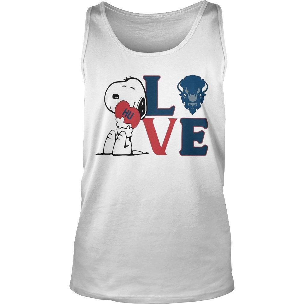 Snoopy Hu Howard University Heart Love Tank Top