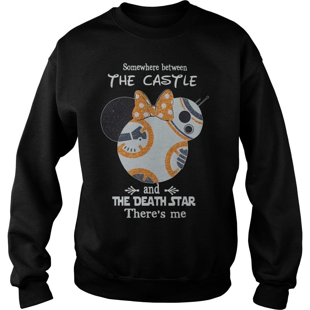 Somewhere Between The Castle And The Death Star There's Me Sweater