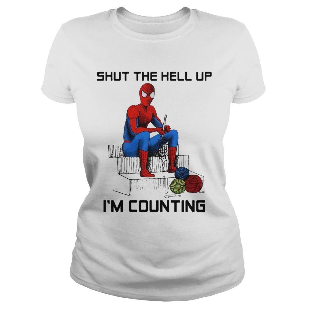 Spider Man Shut The Hell Up I'm Counting Longsleeve