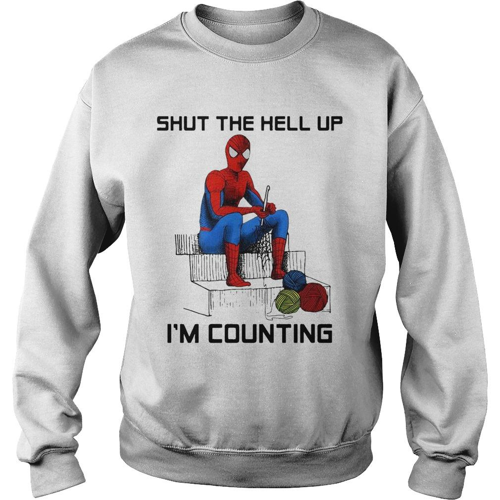 Spider Man Shut The Hell Up I'm Counting Sweater