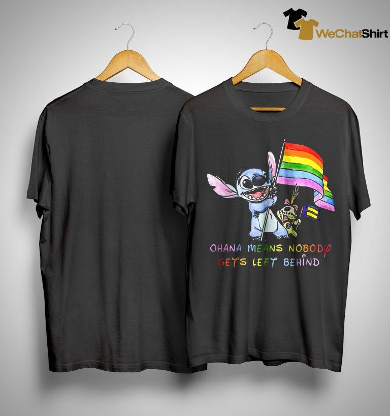 Stitch Lgbt Ohana Means Nobody Gets Left Behind Shirt