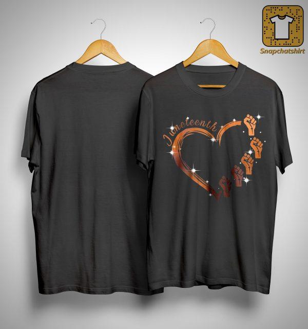 Strong Hand Heart Juneteenth Shirt