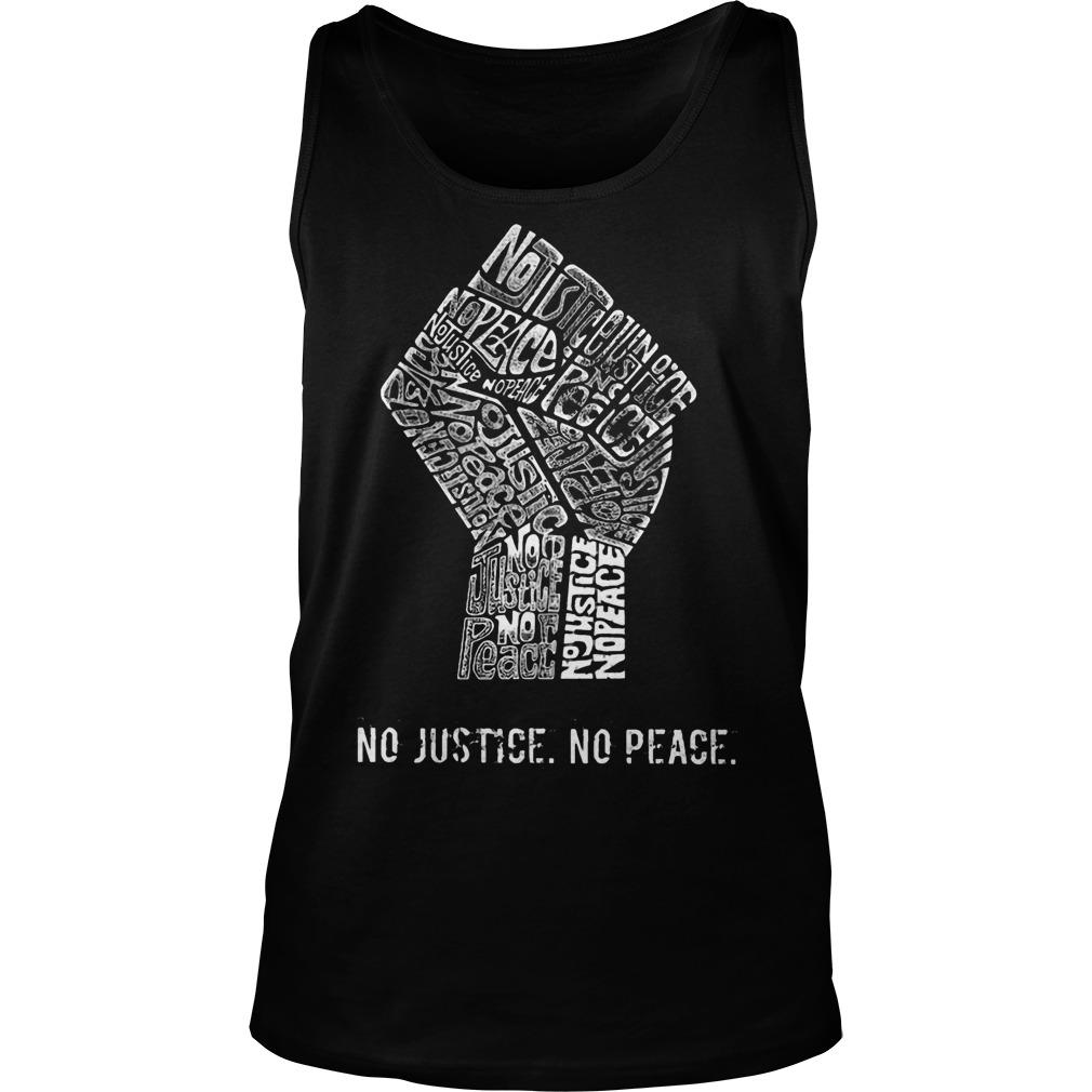 Strong Hand No Justice No Peace Tank Top