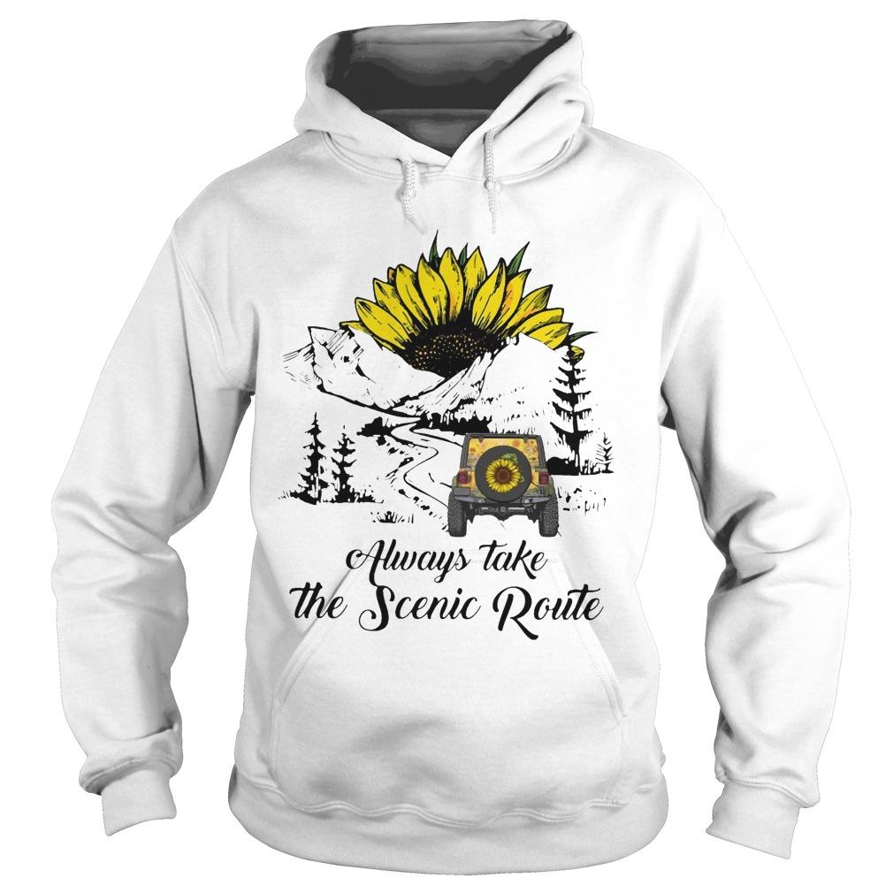 Sunflower Always Take The Scenic Route Hoodie
