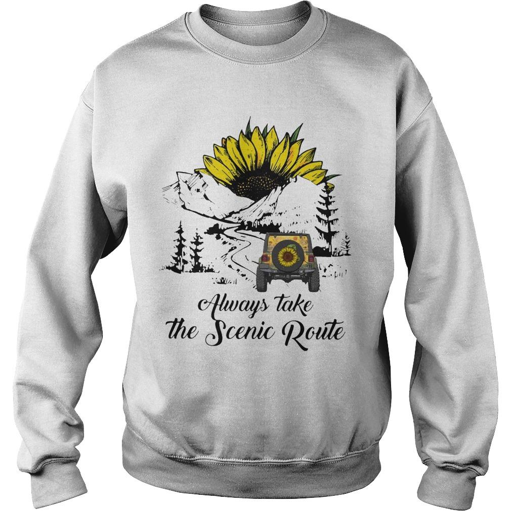 Sunflower Always Take The Scenic Route Sweater
