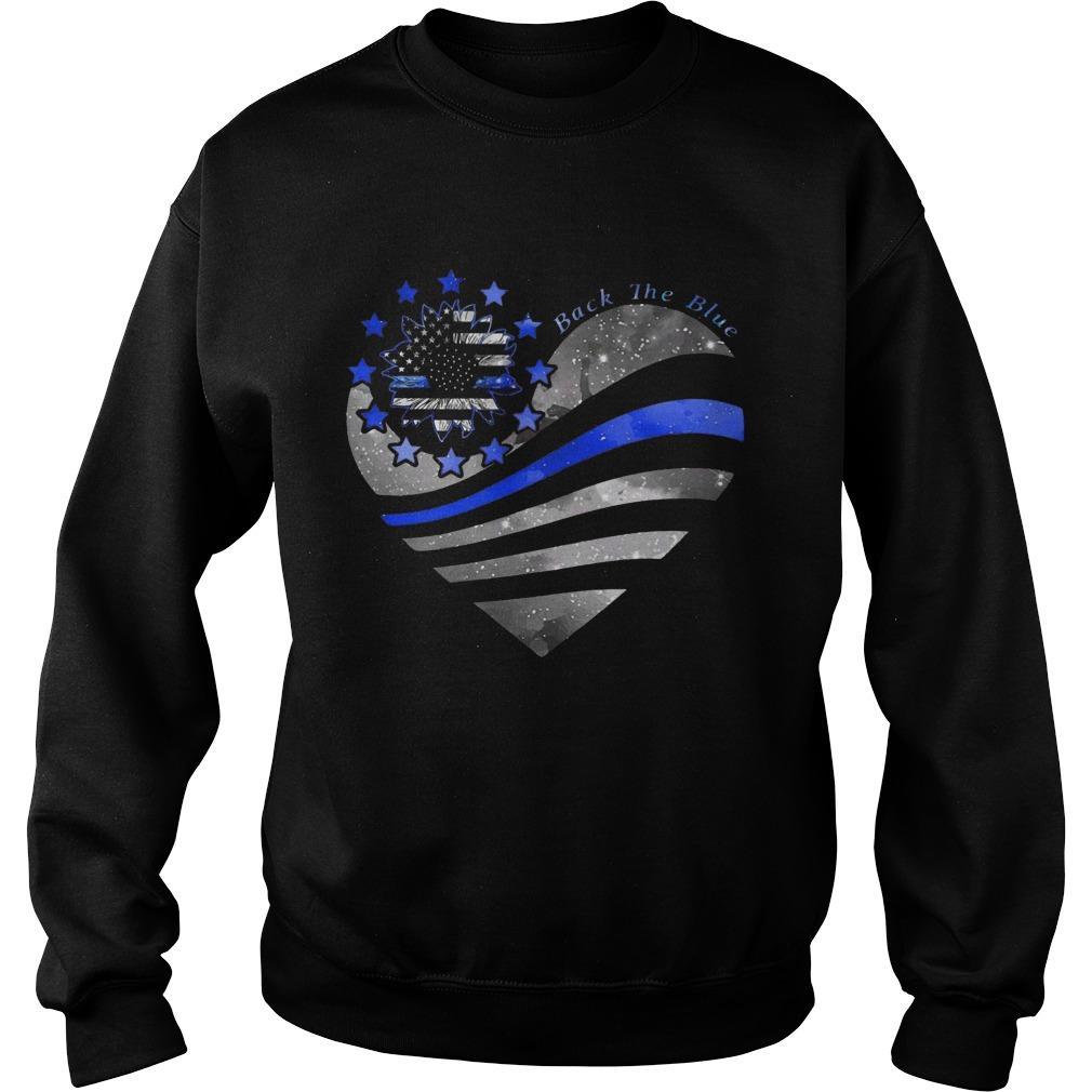 Sunflower Heart Back The Blue Sweater
