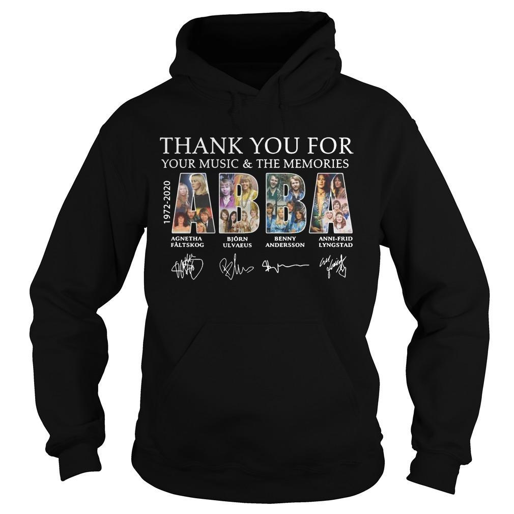 Thank You For Your Music And The Memories Abba Hoodie