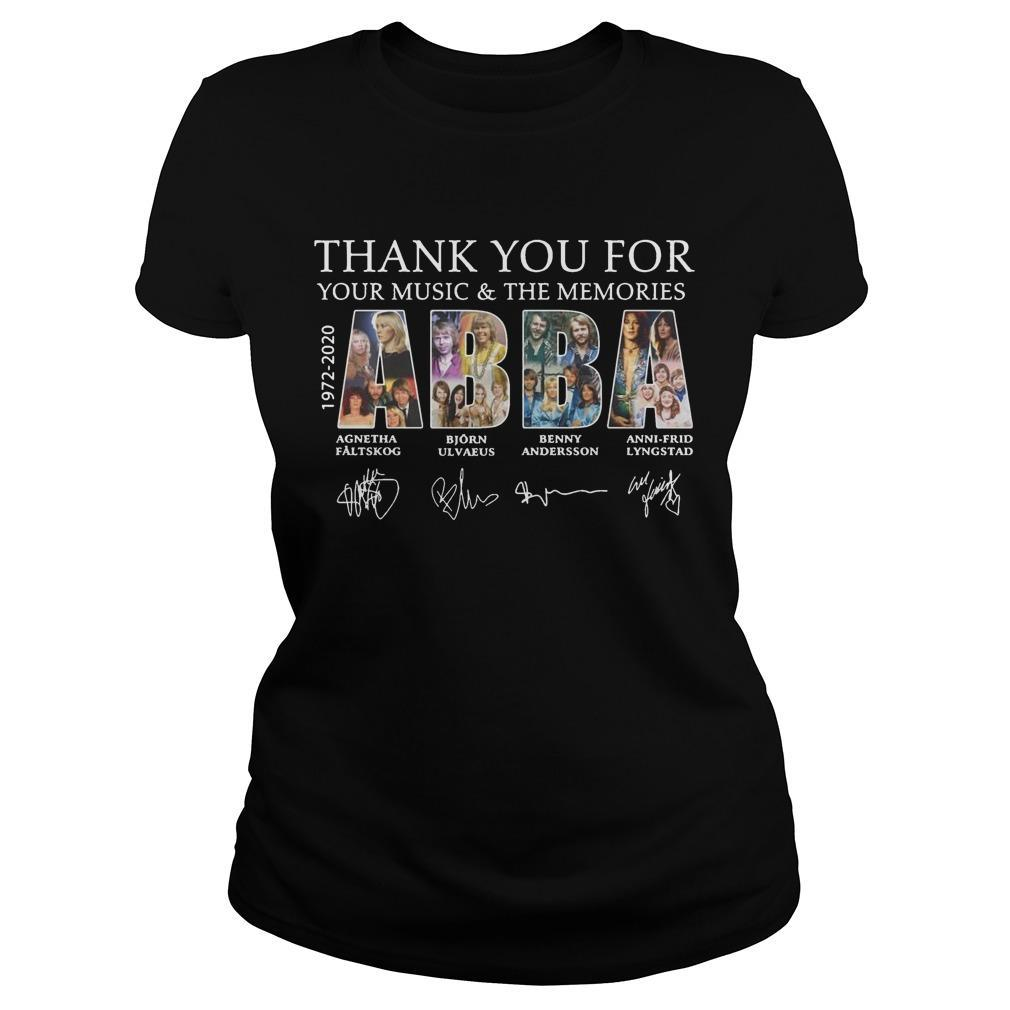 Thank You For Your Music And The Memories Abba Longsleeve