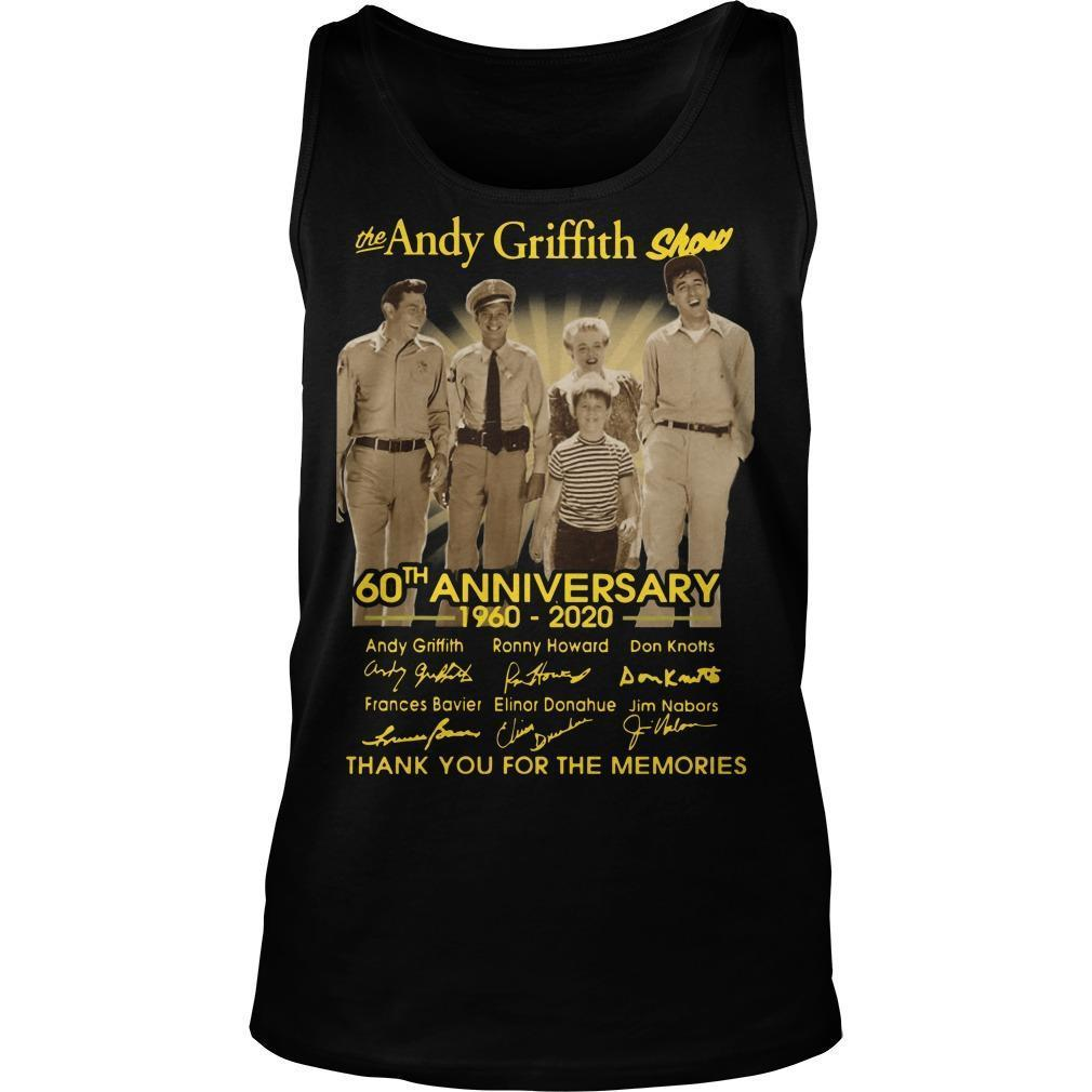 The Andy Griffith Show 60th Anniversary Thank You For The Memories Tank Top