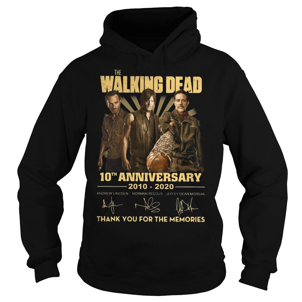 The Walking Dead 10th Anniversary Thank You For The Memories Hoodie
