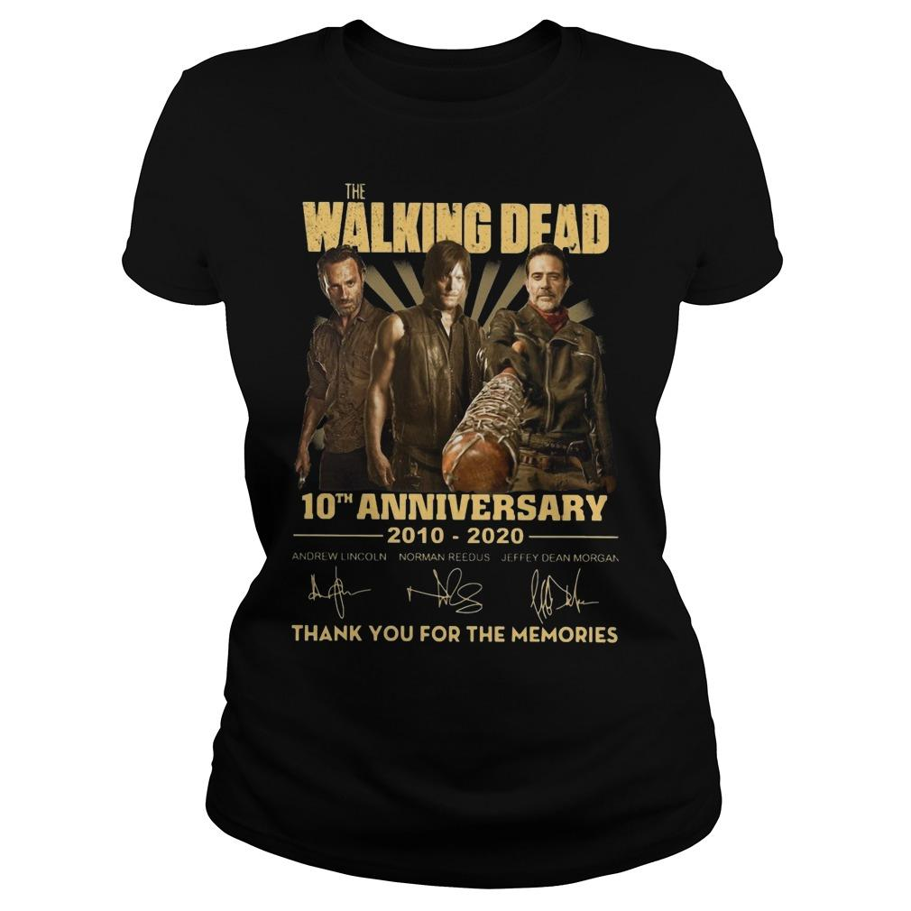 The Walking Dead 10th Anniversary Thank You For The Memories Longsleeve