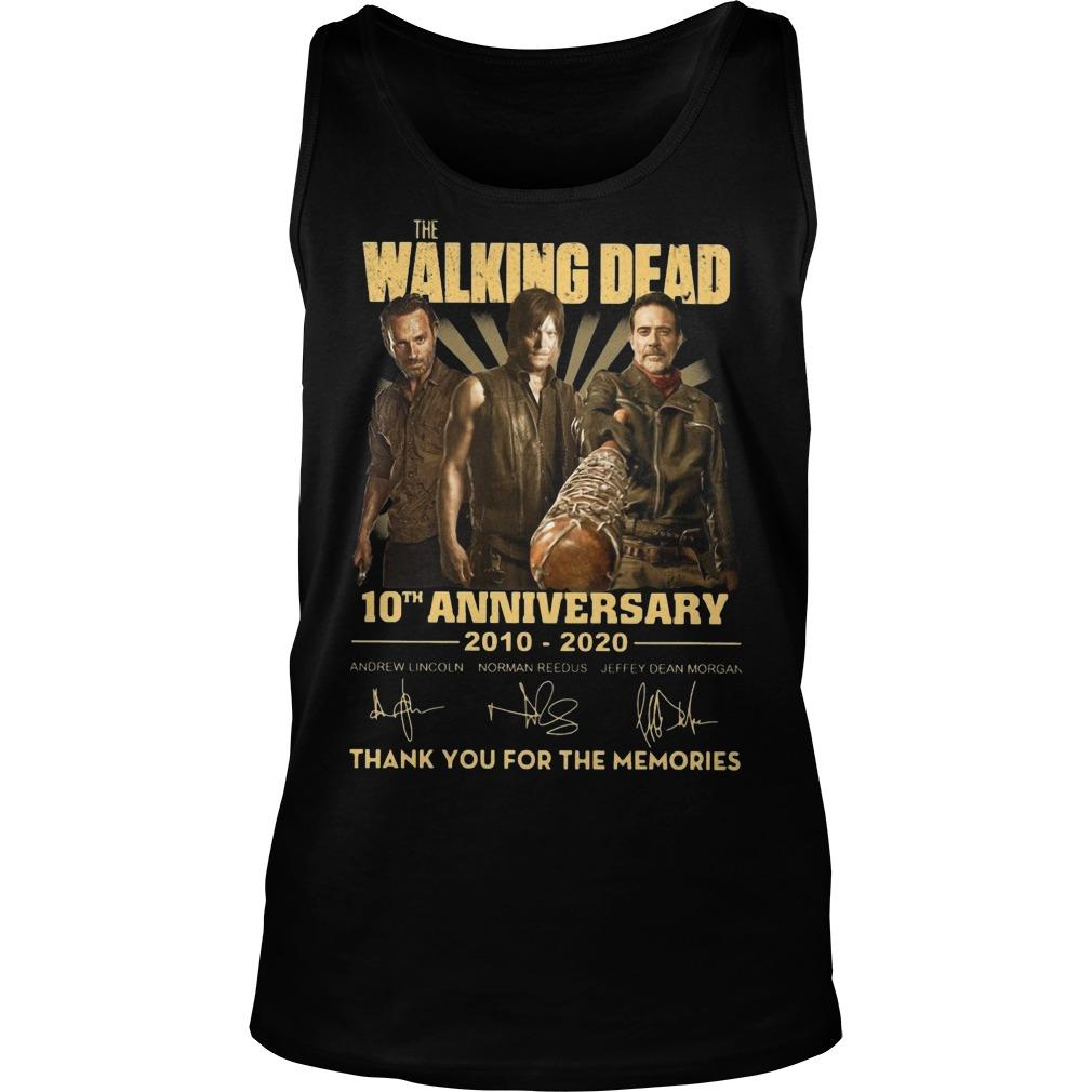 The Walking Dead 10th Anniversary Thank You For The Memories Tank Top