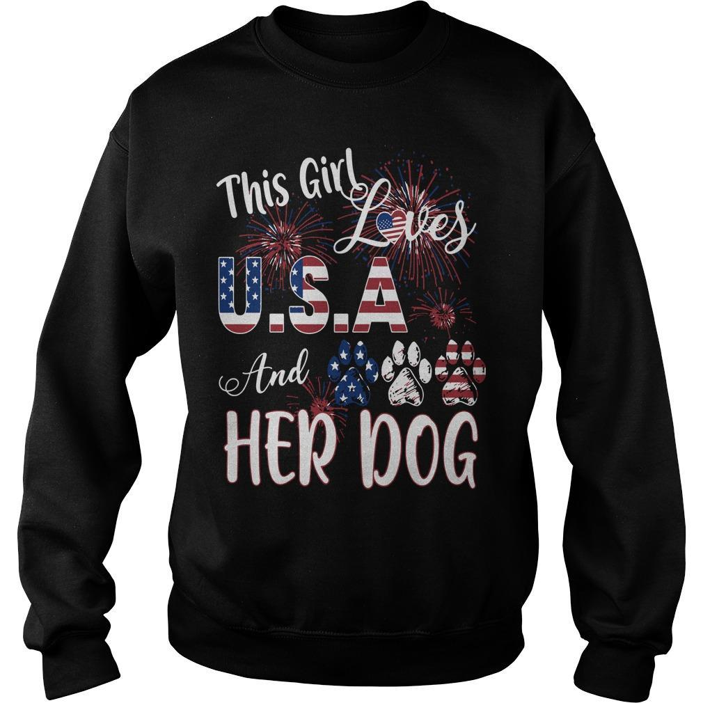 This Girl Loves Usa And Her Dog Sweater