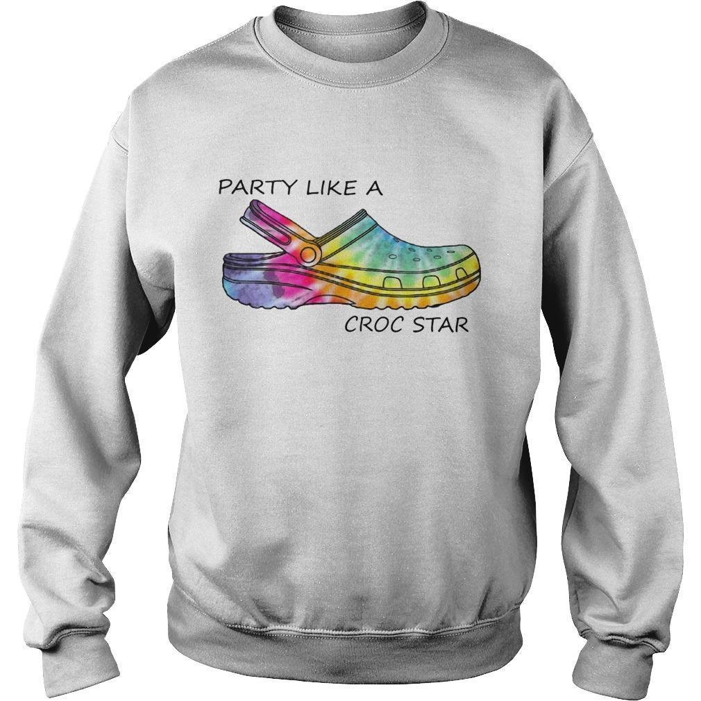 Tie Dye Party Like A Croc Star Sweater