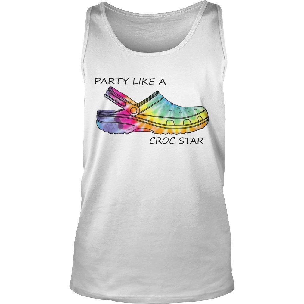 Tie Dye Party Like A Croc Star Tank Top