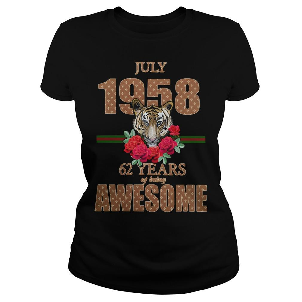 Tiger July 1958 62 Years Of Being Awesome Longsleeve