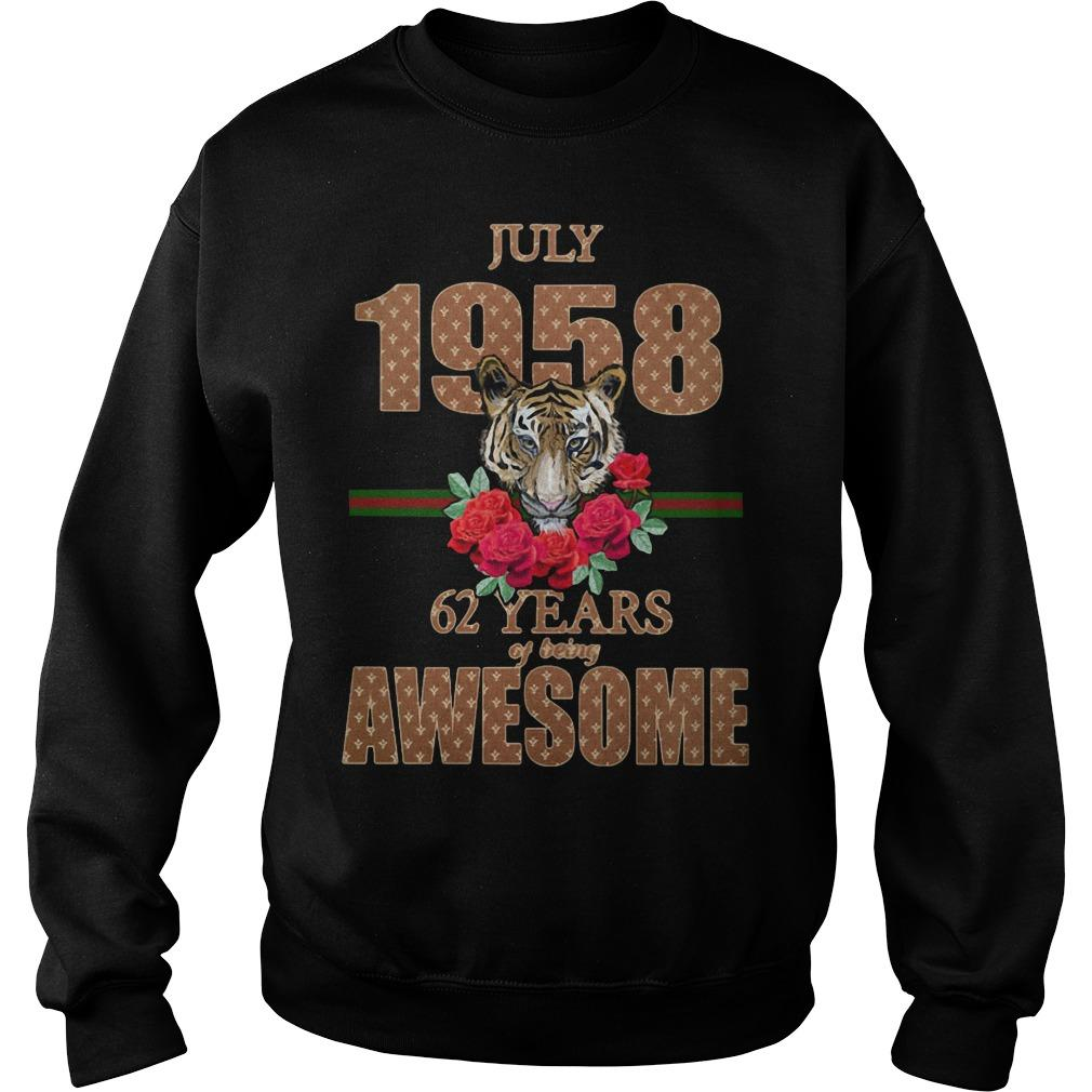 Tiger July 1958 62 Years Of Being Awesome Sweater