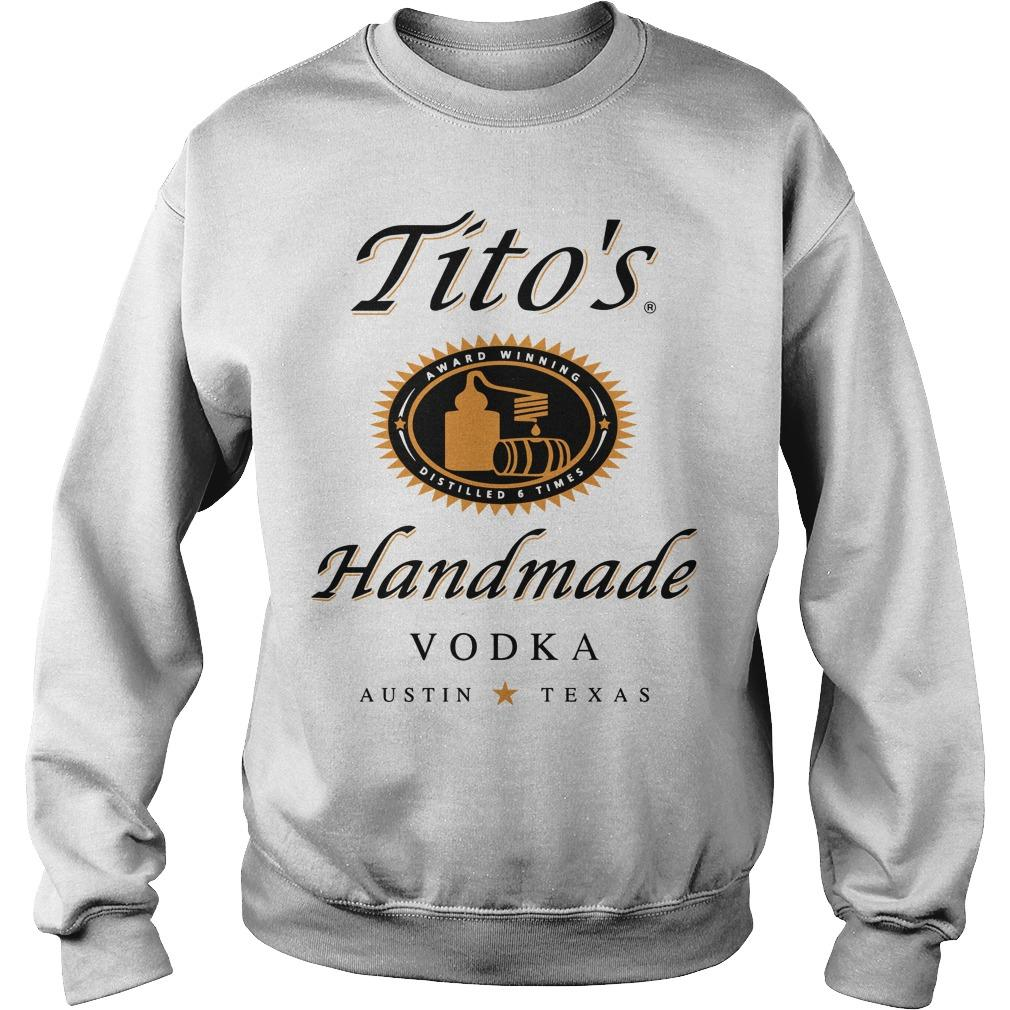 Tito's Award Winning Distilled 6 Times Handmade Vodka Austin Texas Sweater