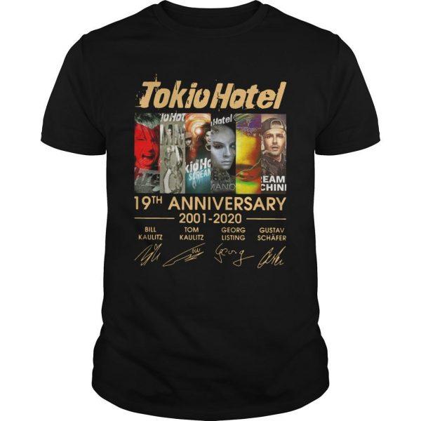Tokio Hotel 19th Anniversary Bill Kaulitz Tom Kaulitz Georg Listing Shirt