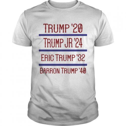 Trump '20 Trump Jr '24 Eric Trump '32 Barron Trump '40 Shirt