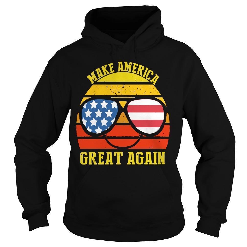 Vintage American Flag Make America Great Again Hoodie