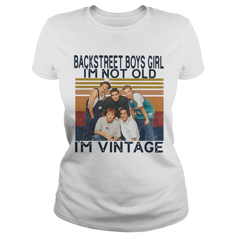 Vintage Backstreet Boys Girl I'm Not Old I'm Vintage Longsleeve