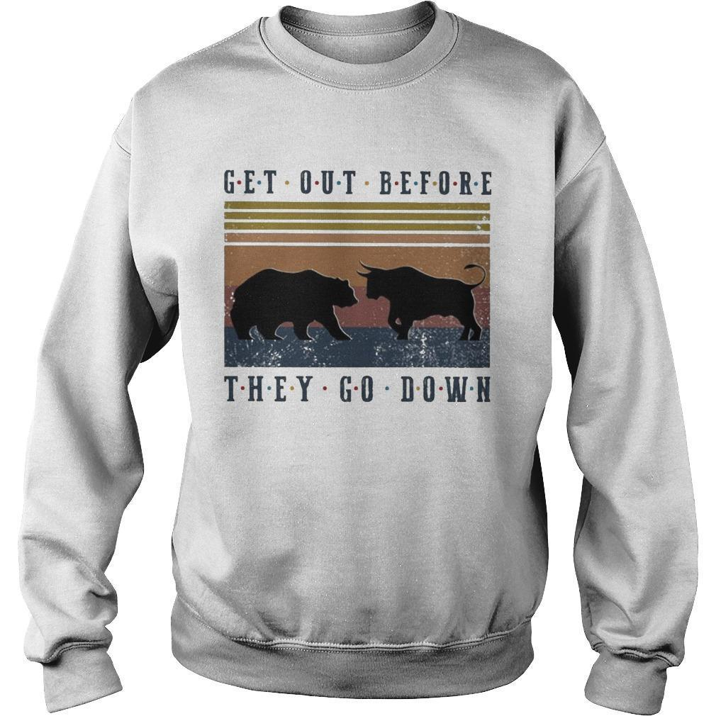 Vintage Bear And Buffalo Get Out Before They Go Down Sweater